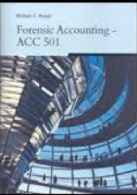 Forensic Accounting - ACC 501