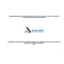 Guía metodológica para la prevención y control del lavado de activos y los delitos fuentes relacionados con corrupción